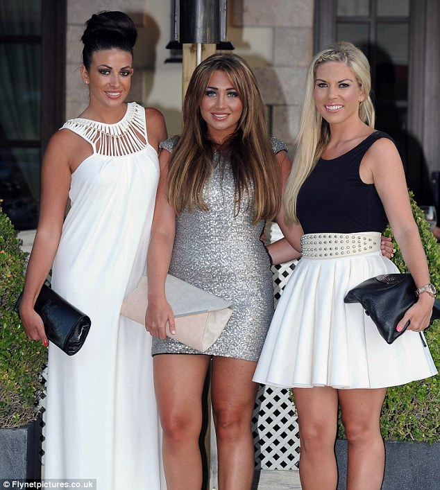 TOWIE town: Reality TV stars Cara Kilbey, Lauren, and Frankie Essex pose for a photograph outside of The Polo House