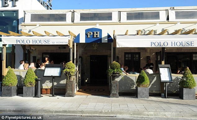 The hot spot: The Polo House is set in Marbella's Golden Mile and it attracts a high caliber of guests