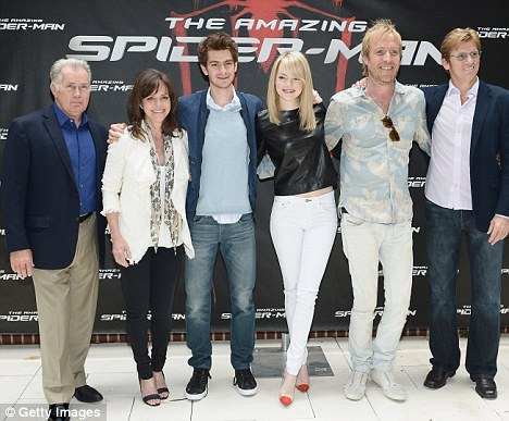 Ensemble cast: The couple were joined by (l-r) Martin Sheen, Sally Field, Rhys Ifans and Denis Leary at Crosby Street Hotel
