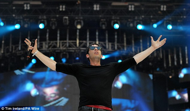 Soaking up the applause! Example is triumphant after a winning performance at the annual Capital event