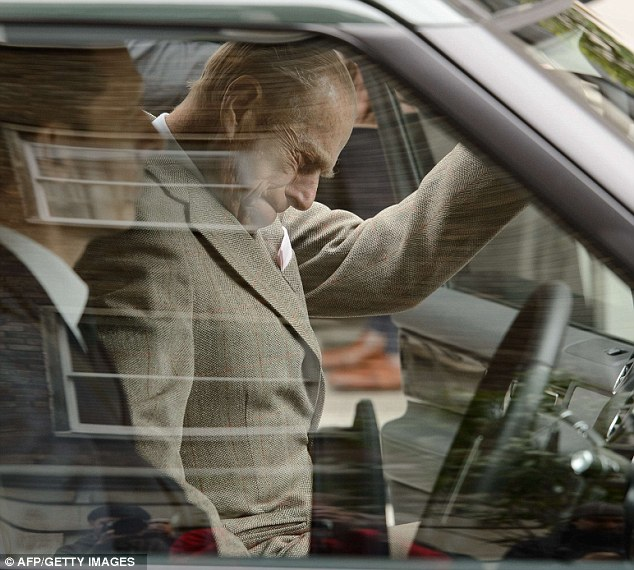 Heading home: The Duke of Edinburgh had not thought he would not be back at Windsor in time for his birthday after spending five nights at the hospital with a bladder infection