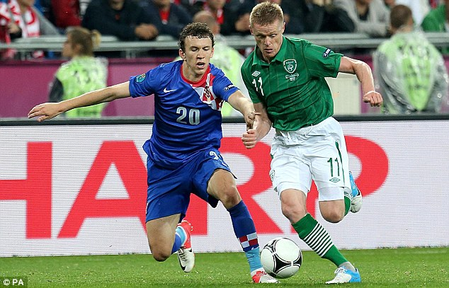 Creator: Damien Duff (right) provided Republic of Ireland's best source of chances