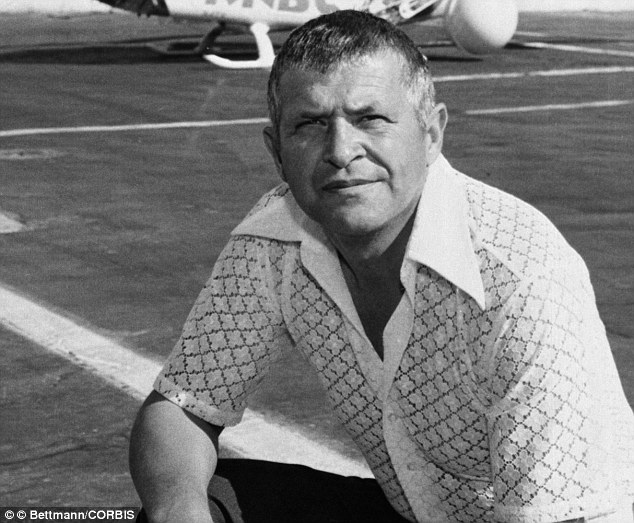 A portrait of Francis Gary Powers in 1977. Powers was later killed while flying a KNBC helicopter in Van Nuys, California