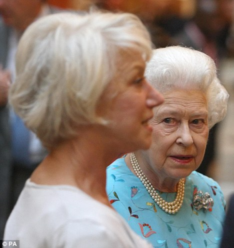 Tea time: Mirren, pictured her last year, has met the Queen several times at Buckingham Palace