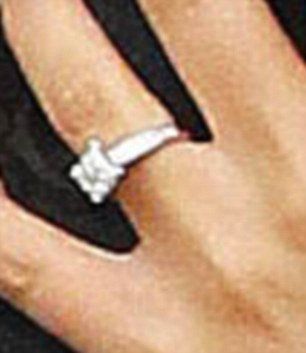 Bling ring: The diamond is reported to have cost £25,000