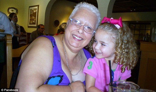 Helpless: Mia, pictured here her grandmother, Marta Sonia Corvi, who has since been charged in the girls' deaths