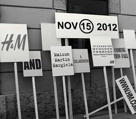 Maison Martin Margiela will launch a high street collection at H&M in November