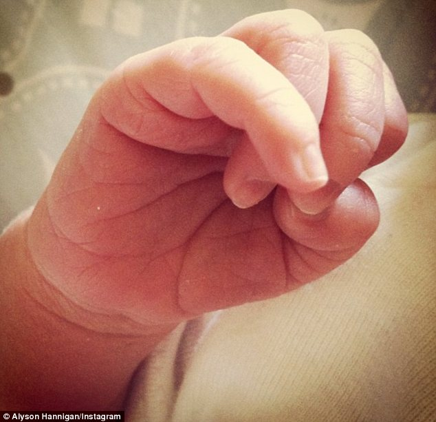 Squee! The American Reunion star shared the first photo of the tiny tot last month, posting a candid closeup to Twitter which showed Keeva's tiny hand