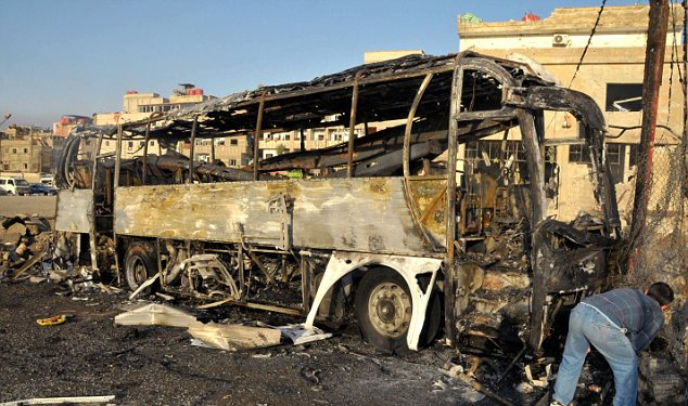 Blast: A car bomb exploded in Damascus today as Amnesty International accused Syrian dictator Bashar Assad of crimes against humanity