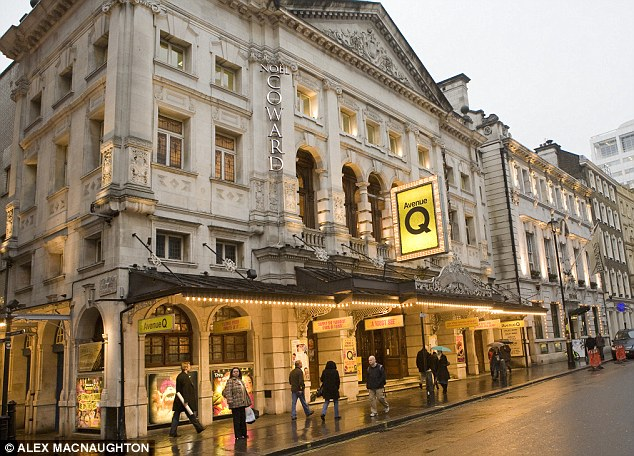 Setting the scene: The Noel Coward Theatre in London will be the venue for the five plays that will each run for 12 weeks and cost as little as £10 a show
