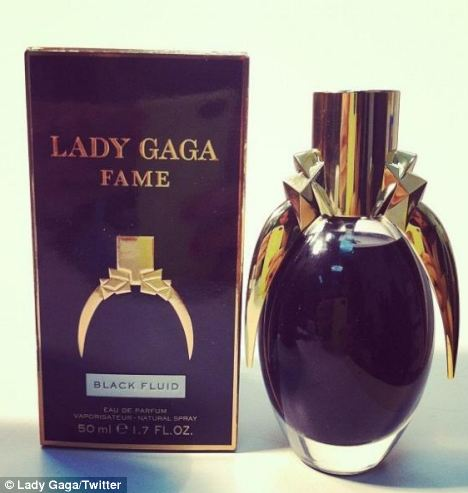 Mysterious: Gaga tweeted that the perfume smelled like 'crushed heart of tiger orchidea, with a black veil of incense'