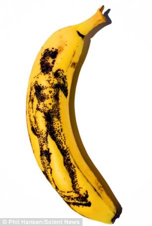 Fruity: David by Michelangelo tattooed on to a banana