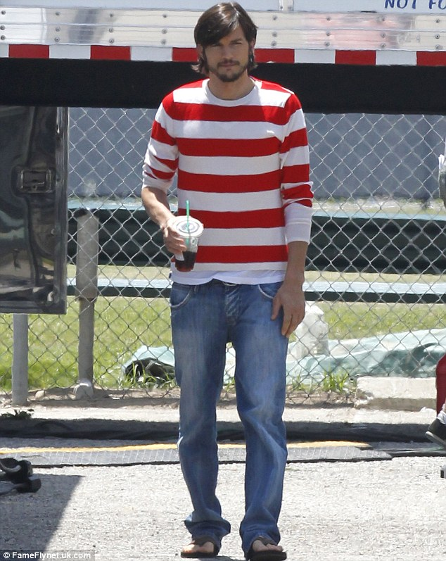 A bad trip: It would be an unwise idea to look at the previous outfit he wore on the set of the Steve Jobs biopic while on LSD
