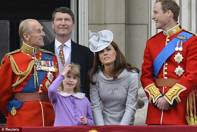 Lady in grey: Yesterday the Duchess had look her glamorous best during the Trooping of the Colour