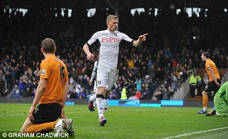 Instant hit: Pogrebnyak impressed during his spell with Fulham last season