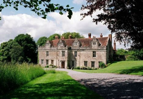 The sprawling country estate has a herd of more than 100 wild fallow deer, which roam the parkland around the manor house