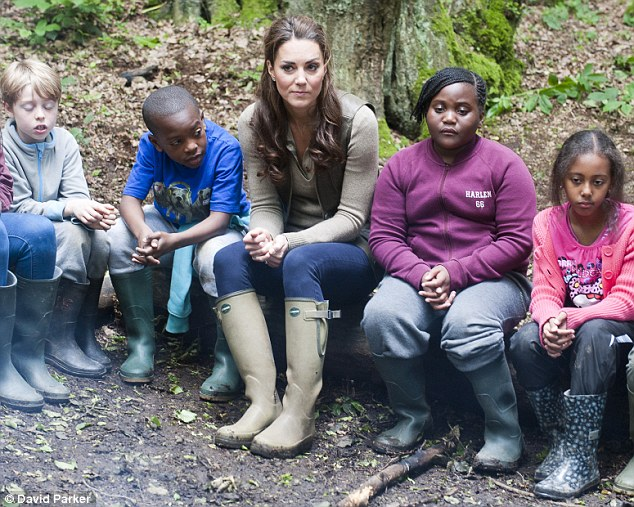 The youngsters asked Kate about how she was enjoying life in the Royal Family