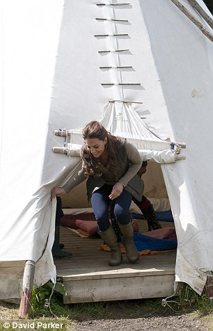 The youngsters showed Kate around their tipi