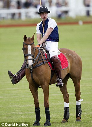 William in action at Beaufort, during the Gloucestershire Festival of Polo