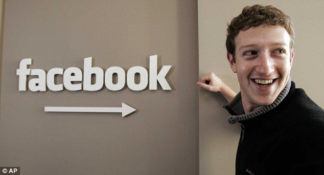 Boss: Facebook founder and CEO Mark Zuckerberg had been quoted as saying that that a trusted referral from a Facebook friend was the 'Holy Grail' of advertising