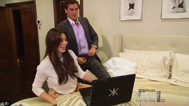 My turn: Scott pretends to unzip his trousers during the online chat
