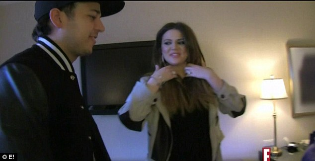 Family visit: Khloe was visited by her mother and younger brother Rob in Dallas