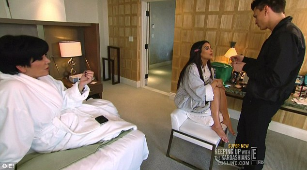 Needing help: Kris sought advice from from Kim who told her to 'stay away' from Todd
