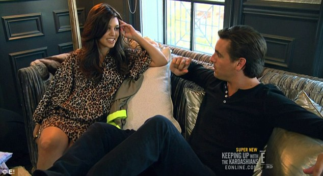 Time to stay home: Kourtney said enough was enough after Scott had two nights on the town with Kim
