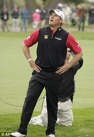 Shock: Westwood sees his chances go up in smoke