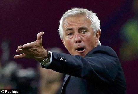 Mutiny: Bert van Marwijk's players were not impressed with some decisions