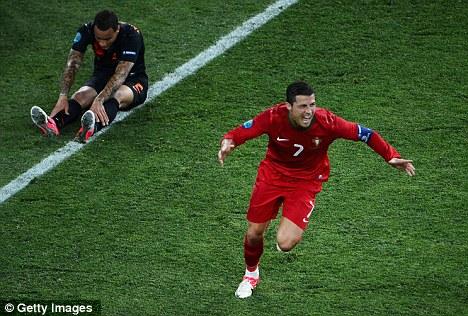 Torturer-in-chief: Cristiano Ronaldo shredded Holland