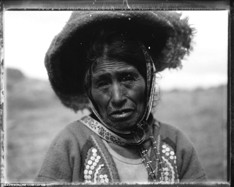 Family ties: Helena took this image of a woman in traditional dress in Peru - where her mother was born