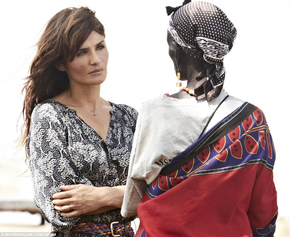 Ambassador: Helena Christensen worked with Oxfam to produce the booklet which she will now send to government officials and heads of state attending the UN Conference on Sustainable Development (Rio+20)