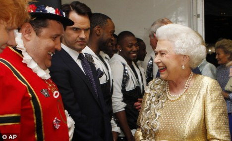 'Largest beneficiary': The 39-year-old, who performed for the Queen at her jubilee (pictured), puts away £3.3million a year via the K2 tax scheme