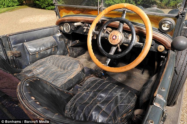Upholstery: The car's untouched interior and superb condition led to a bidding war at Bonhams' Goodwood Revival sale