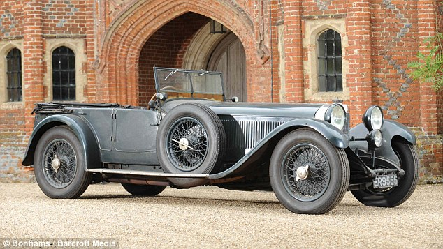 Rare find: The unrestored 1928 Mercedes S Type was unearthed after 60 years sitting in a garage