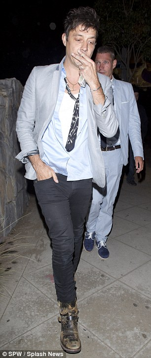 Acropss the Pond: While Kate was in London, husband Jamie Hince was out for dinner in Los Angeles