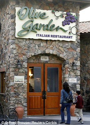 Olive Garden lost two percentage points, slipping from 82 to 80 per cent