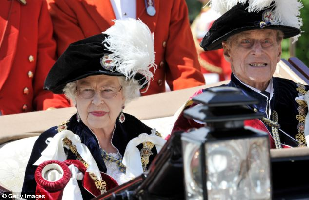 The Queen and Prince Philip departed by coach after the service at the chapel