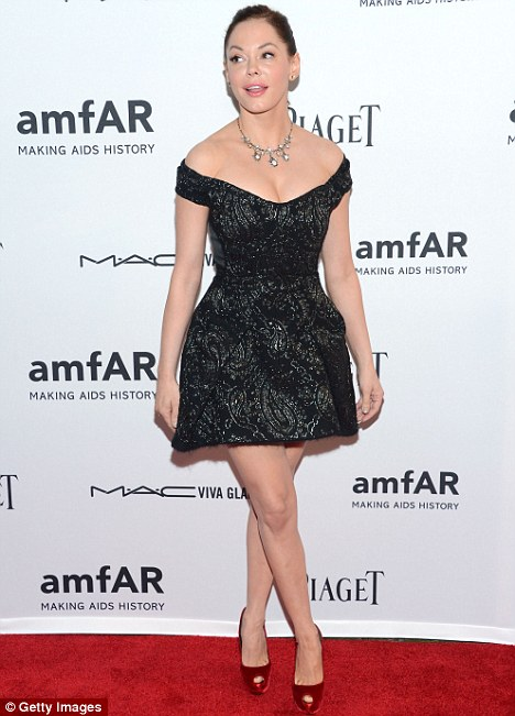Stunning turn: Pictured earlier this month at the amfAR Inspiration Gala in New York
