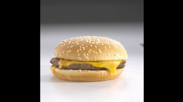 Sad: Experts take a photo of Hope's pathetic looking burger