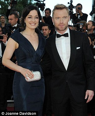 Image change: Laura Michelle Kelly with co-star Ronan Keating in Cannes