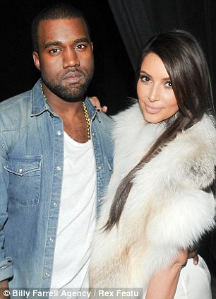 The beau: Kim and rapper Kanye West are now an item