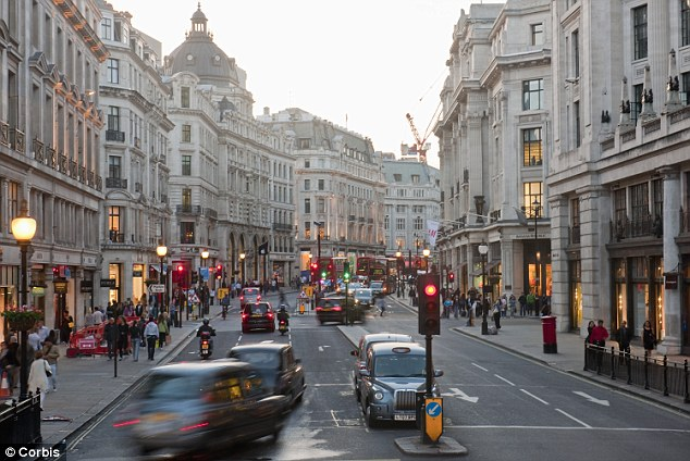 Premium address: The royal household is entitled to 15 per cent of profits from the Crown Estate - which belongs to the nation and includes historic properties such as Regent Street in the West End of London