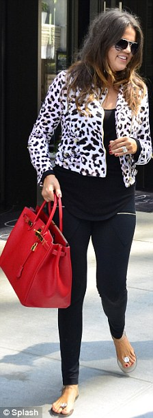 Step-mum: Khloe was in New York City with husband Lamar today for his daughter's graduation when she learnt of the story