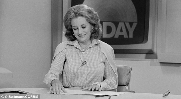 Legend: Barbara Walters was a host of Today from 1961 to 1976; she is pictured here on her last day