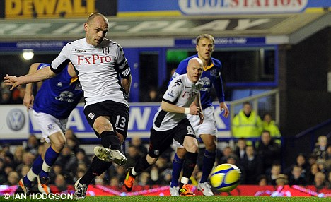 Moving on: Danny Murphy has joined Blackburn Rovers after leaving Fulham