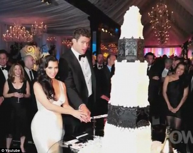 Taking the cake: Even their wedding confectionery was completely over the top