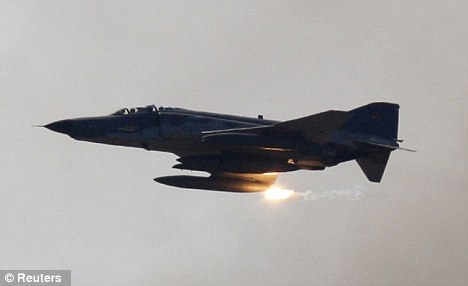 A F4 Phantom Turkish fighter jet was shot down by Syrian security forces, say Turkey