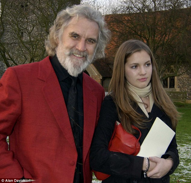 Billy Connolly with his daughter Amy, who, the cause of the family fight